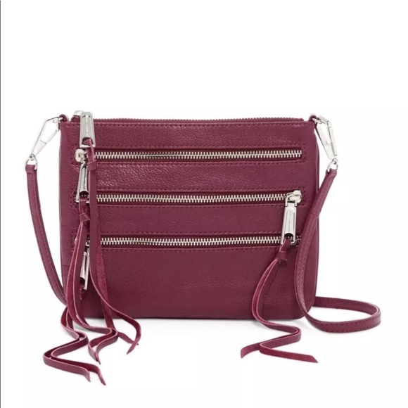 34e04f3160 Rebecca Minkoff 3-Zip Leather Rocker Crossbody Bag